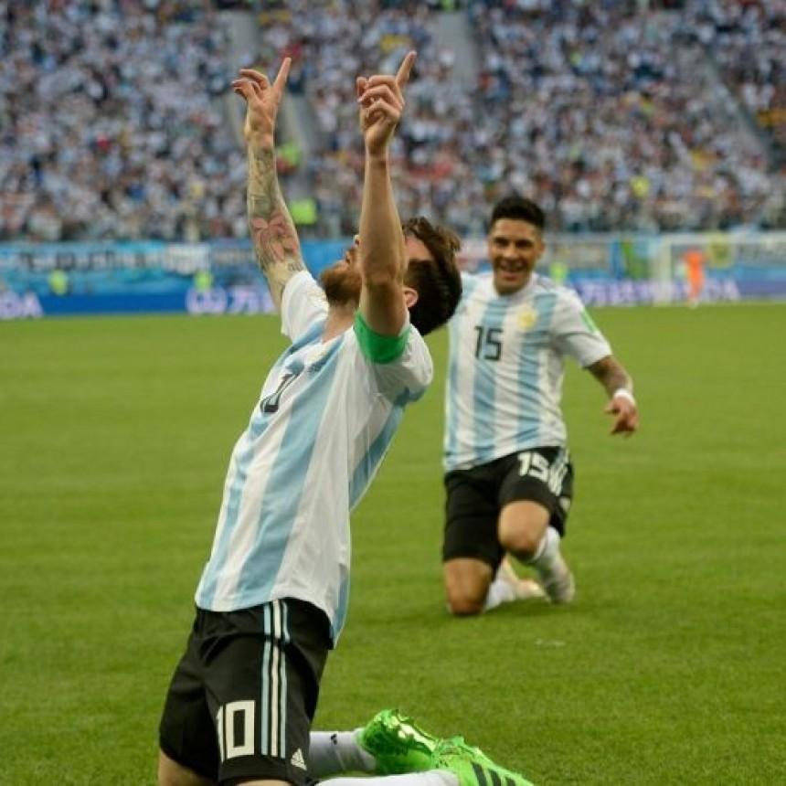 ARGENTINA: EL SELECCIONADO ARGENTINO LE GANO A NIGERIA Y SIGUE EN EL MUNDIAL